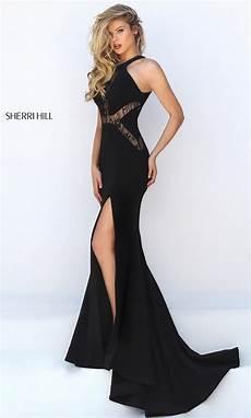 sherri hill black lace dress promgirl