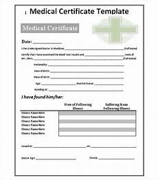 Medical Certificate Templates 30 Medical Certificate Template Free Word Pdf Documents