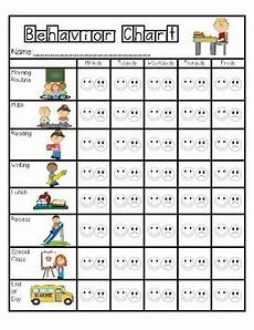 Behavior Charts For Elementary Students Elementary Behavior Chart By Speaking Of Special Tpt