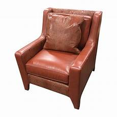 leathercraft burnt orange leather accent chair chairish