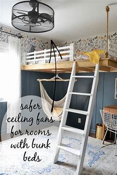 best ceiling fans for rooms with bunk beds safe option
