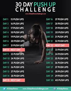 Push Up Chart For Beginners 24 Best 30 Day Fitness Challenge Charts Images On