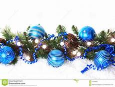 Blue Holiday Border Blue Christmas Border Stock Image Image Of Green Branch