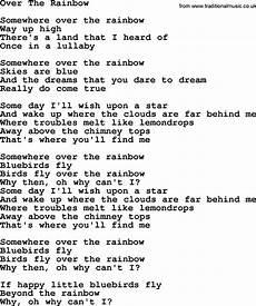 image result for somewhere the rainbow lyrics
