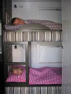 caravan zip sheets for the bunks makes the bed easy to