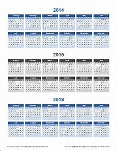 Multi Year Calendar Multi Year Calendars 2 And 3 Year Calendar Templates