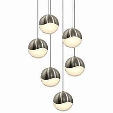Multipoint Pendant Lighting Grapes Led 6 Light Round Multipoint Pendant By Sonneman