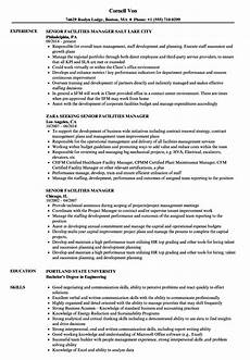 Facilities Manager Resume Senior Facilities Manager Resume Samples Velvet Jobs
