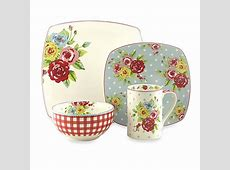 222 Fifth New Country 16 Piece Dinnerware Set   Bed Bath