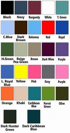 Scrub Color Chart Scrub Set 4 Pocket Solid