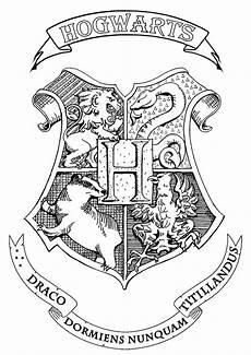 Harry Potter Wappen Malvorlagen Harry Potter Hogwarts Crest Books Coloring Pages