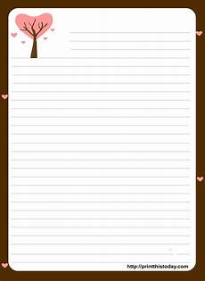 Letter Writing Paper Template Love Letter Pad Stationery Free Printable Stationery