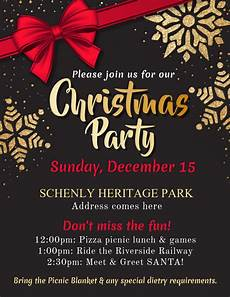 Christmas Poster Templates Copy Of Christmas Party Flyer Template Postermywall
