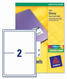 Avery 2 Labels Per Sheet Avery L7768 Colour Laser Labels 199 6x143 5mm 2 Per Page