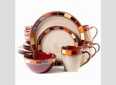 Gibson Elite Casa Estebana 16 Piece Dinnerware Set, Cream