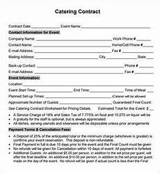 Catering Agreement Template Catering Contract Agreement Catering Event Inspiration