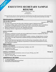 Sample Resume Of Admin Executive How To Write An Executive Resume
