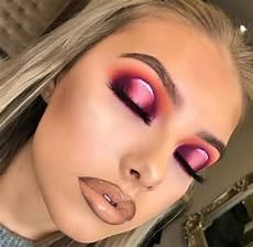 pink orange eyeshadow look spotlight eye look bold eye