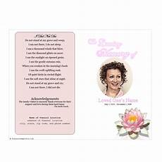Memorial Pamphlet Template Free Lily Funeral Program Template