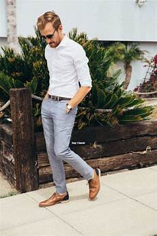 Light Grey Pants Brown Shoes Picture Of Grey Pants A White Shirt And Brown Leather Shoes