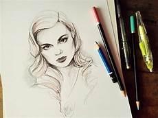 desenho femininos belos rostos femininos nas ilustra 231 245 es de katarzyna