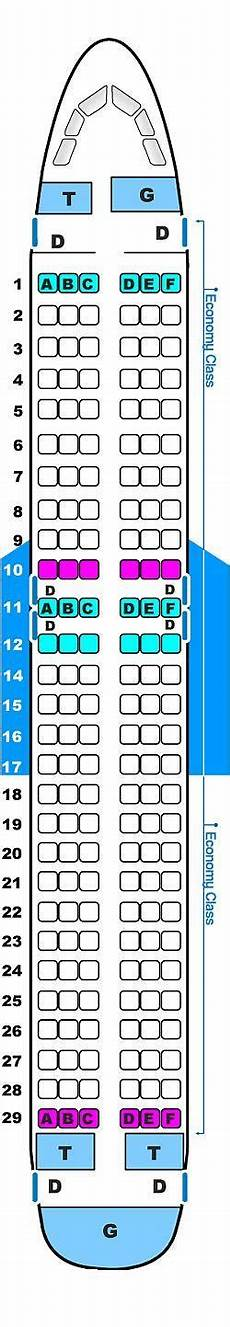 Airbus A320 214 Seating Chart Seat Map Usa3000 Airlines Airbus A320 214 Seatmaestro