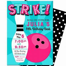 Free Printable Bowling Party Invitations For Kids Bowling Invitation Printable Or Printed With Free Shipping
