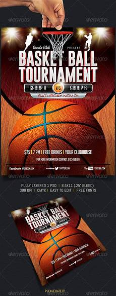 Basketball Tournament Program Template Basketball Tournament Graphicriver