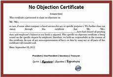 No Noc 10 Free Sample No Objection Certificate Templates
