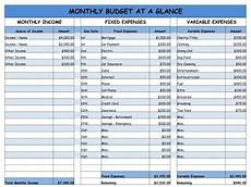 How To Make A Household Budget Spreadsheet Monthly Household Budget Worksheet Printable You Don T