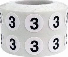 3 Inch Labels Tiny Number 3 Labels 0 5 Inch Round Number Stickers