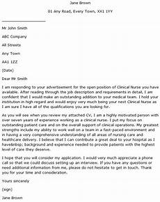 Clinical Nurse Cover Letter Example Learnist Org
