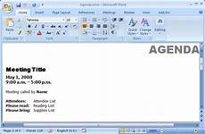 Template Microsoft Word 2007 Ms Word 2007 Create A Template From An Existing Document