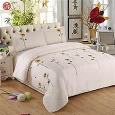 sunflower bedding set 100 cotton embroidered duvet cover