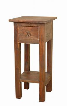 cottage narrow side table in oak sunset trading home