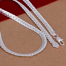Designer Sterling Silver Necklaces 5mm 925 Solid Sterling Silver Necklace Chain 20 Quot Inch