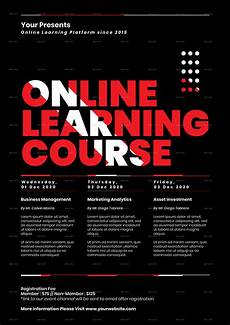 Flyers On Line Online Learning Course Class Flyer Instagram Set By