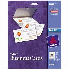 Avery Business Card Creator Avery Business Cards Matte Two Sided Printing 100 Cards