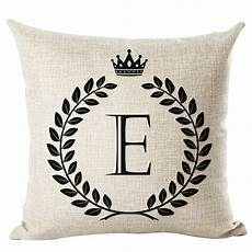 letter printed cushion cover livebycare linen cotton throw