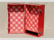 1950s   60s vintage metal suitcase doll trunk travel case