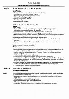 Pharmacy Resume 11 12 Retail Pharmacist Resume Examples