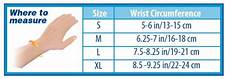 Wrist Circumference Frame Size Chart Wrist Compression Sleeve Carpal Tunnel Treatment