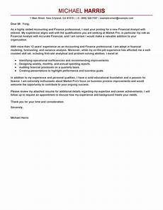 Sample Of Cover Letter For Accounting Position Best Accounting Amp Finance Cover Letter Examples Livecareer