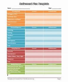 Retirement Budget Planner Retirement Plan Template Word Templates