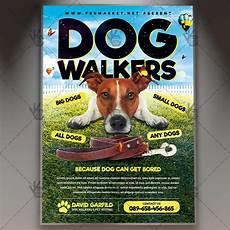 Dog Walker Flyers Dog Walkers Premium Flyer Psd Template Psdmarket