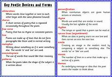 Poetic Devices Chart Pen00030 Poetry Education Poetic Words