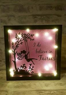 Fairy Lights Picture Frame I Believe In Fairies Light Up Box Frame Flower Shadow