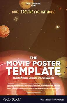 Free Movie Poster Template Movie Poster Template Royalty Free Vector Image