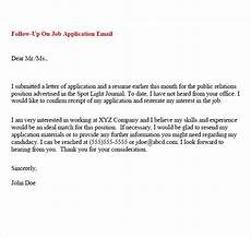 Follow Up To Job Application Free 5 Sample Follow Up Emails In Pdf