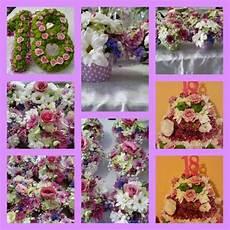 fiori 18 anni centrotavola per festa di 18 anni realizzati da letizia